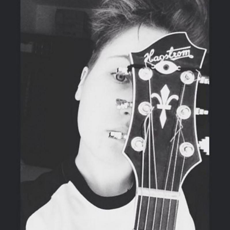 Lesbian guitar silhouette for that